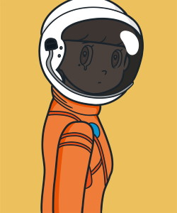 JINGART2021_2_Yuya-HASHIZUME_eyewater-ver.-space-suit-Orange2
